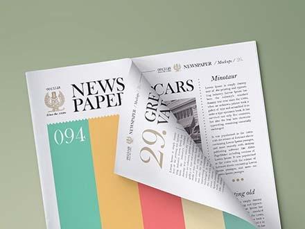 free newspaper mockup psd