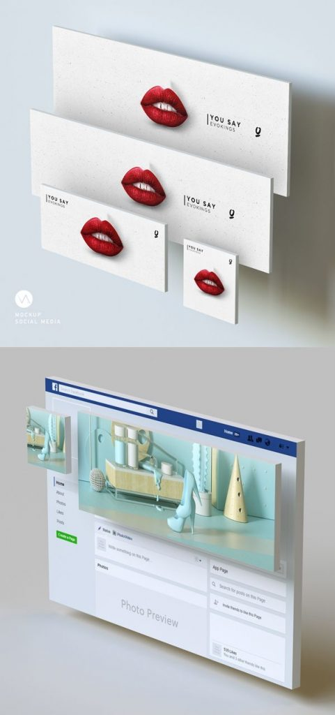 free social media mockups template psd freemockuptemplates