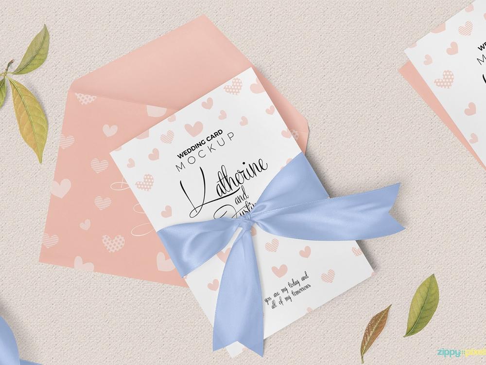 free wedding invitation mockup graphicrefer