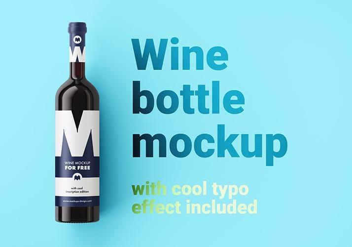 free wine bottle mockup mockups design free premium mockups