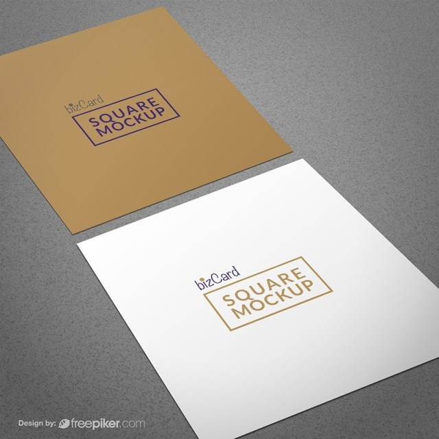 freepiker square business card mockup