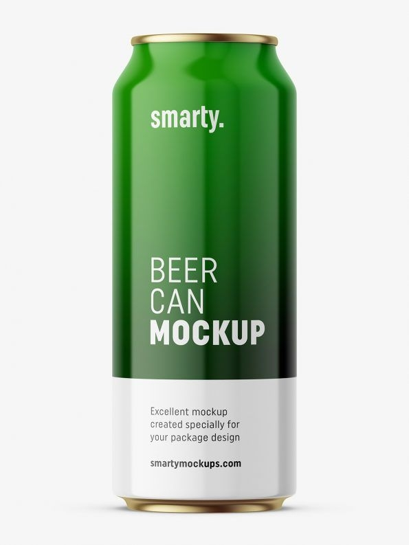 glossy beer can mockup drink beverages mockups