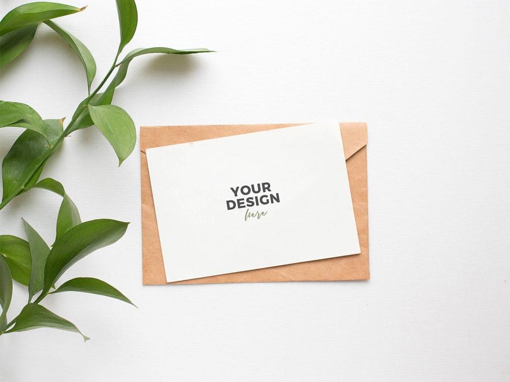 invitation card mockup free psd free mockup