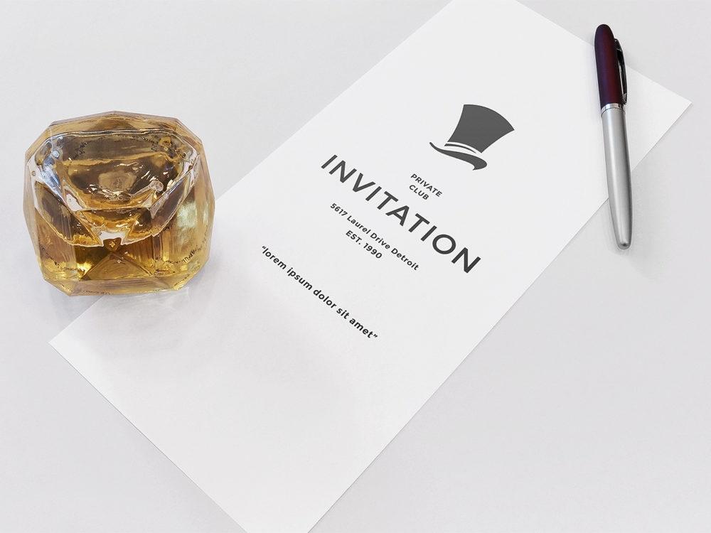 invitation mockup free psd free mockup