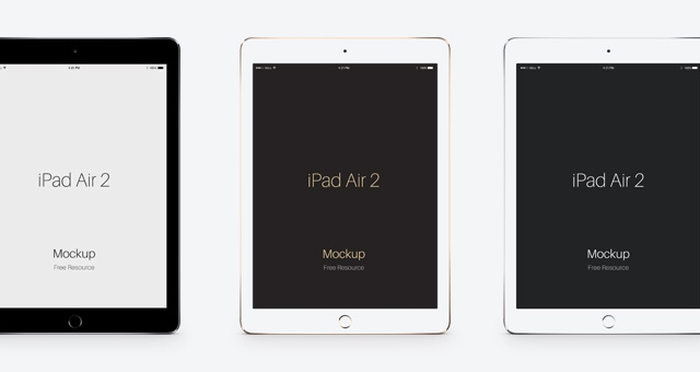 ipad air 2 all colors mockup mockupworld