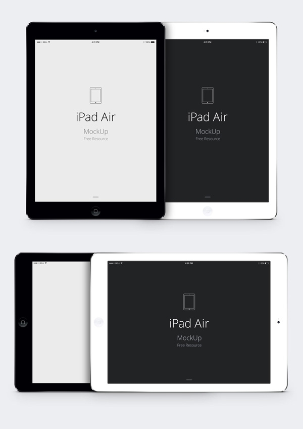ipad air psd vector mockup graphicburger