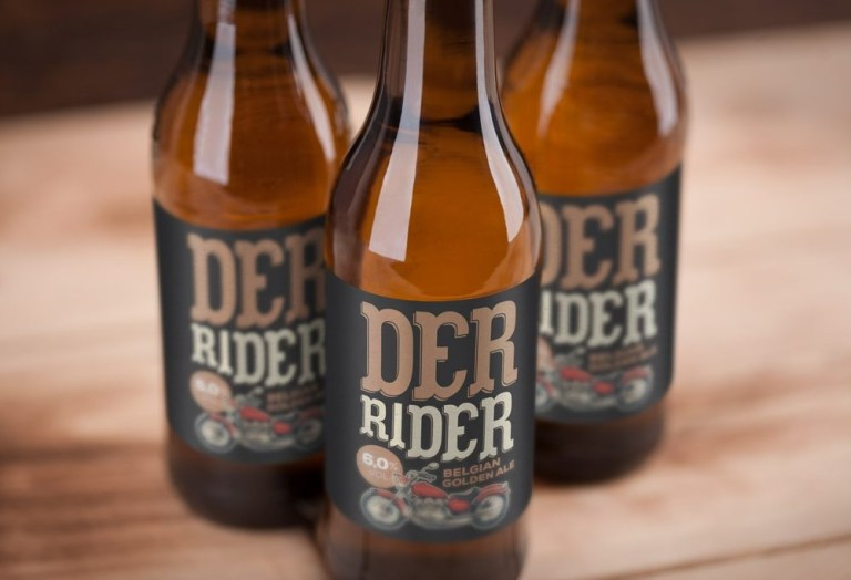 labeled beer bottles mockup mockupworld