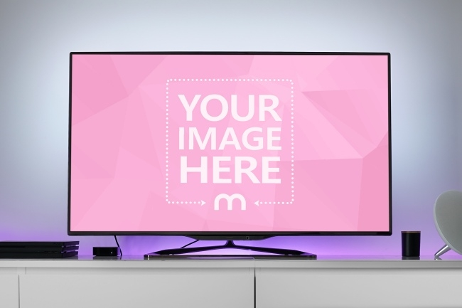 large flat screen tv mockup generator mediamodifier