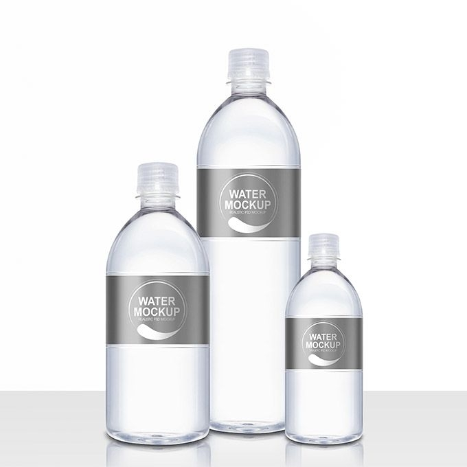 mineral water plastic bottle psd mockup packaging mockups bottle