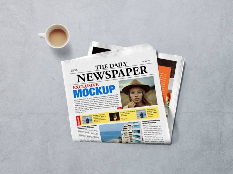 Download Newspaper Mockup Psd Files Yellowimages