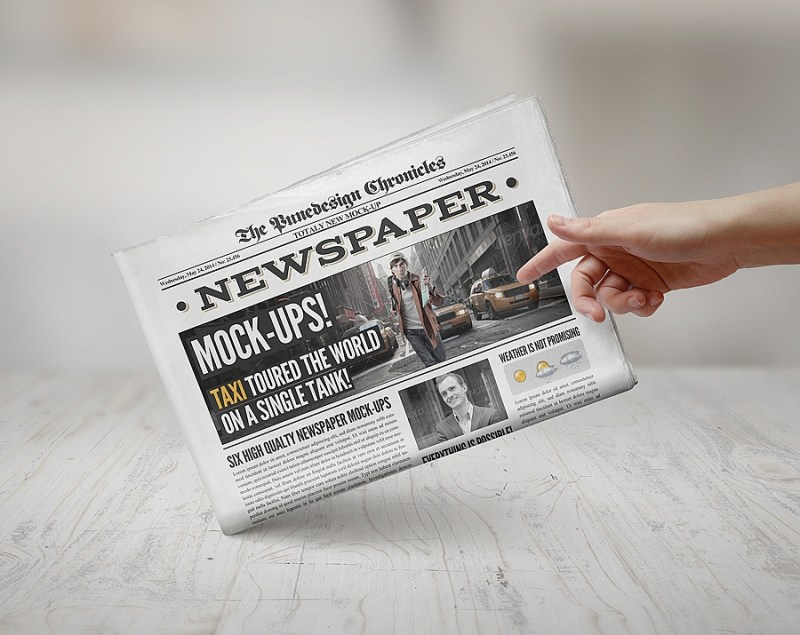 newspaper mockup 3 punedesign