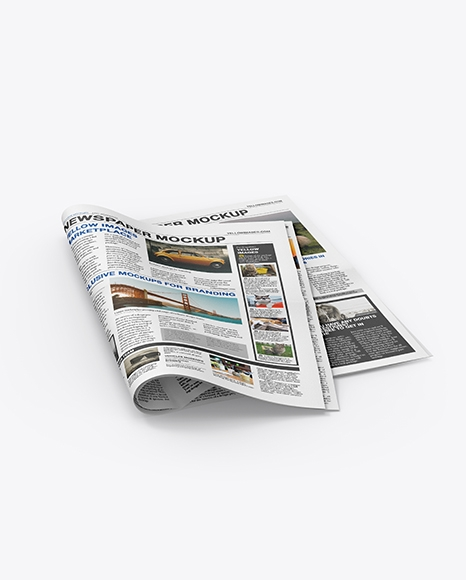 newspaper mockup in stationery mockups on yellow images object mockups
