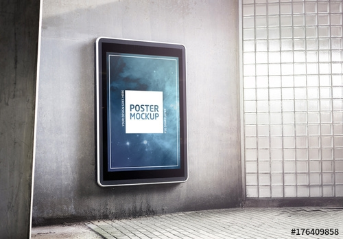 outdoor kiosk advertisement mockup 2 buy this stock template and