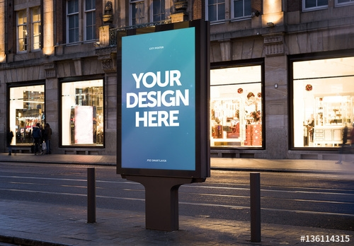 outdoor kiosk advertisement mockup 5 buy this stock template and