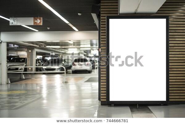 parking garage abri kiosk mockup stock photo edit now 744666781