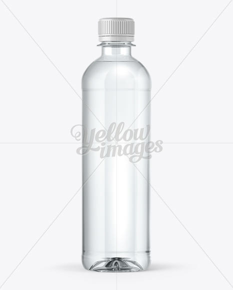 pet water bottle mockup in bottle mockups on yellow images object