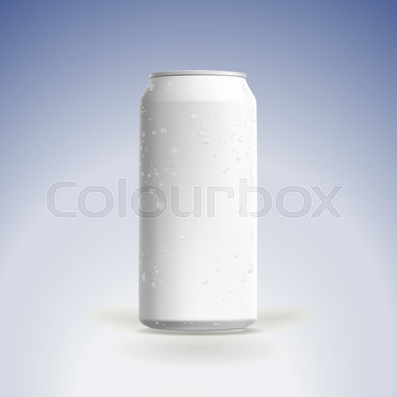 photorealistic vector beer can mockup stock vector colourbox