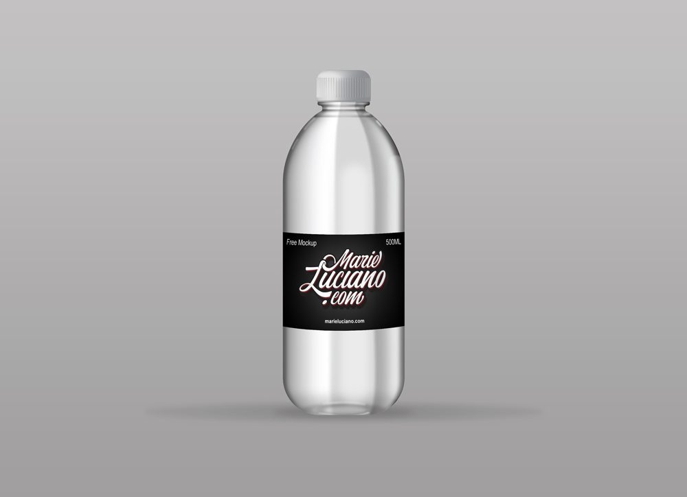 plastic water bottle mockup mockupworld