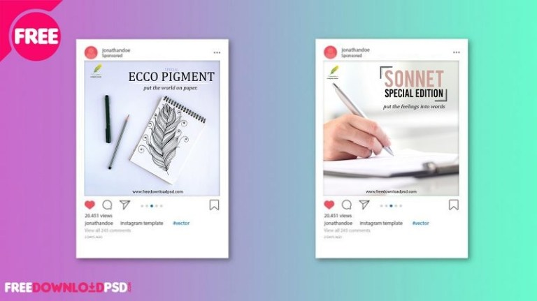 premium pen social media posts freedownloadpsd