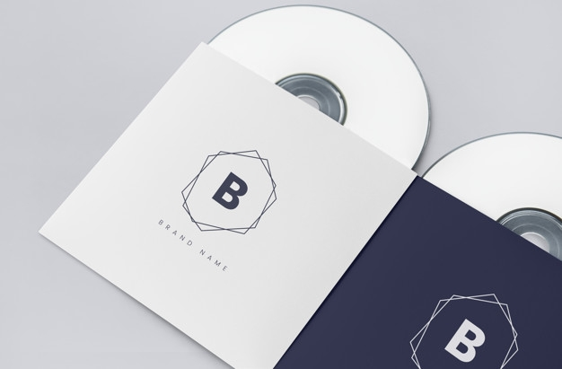 promotional material cd package mockup psd file free download