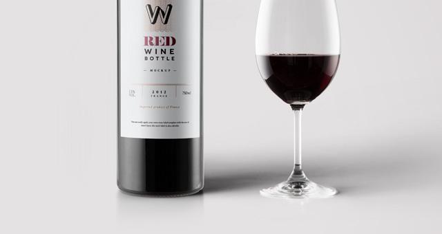 psd red wine bottle mockup psd mock up templates pixeden