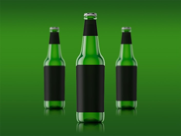single beer bottle mockup free psd template psd repo