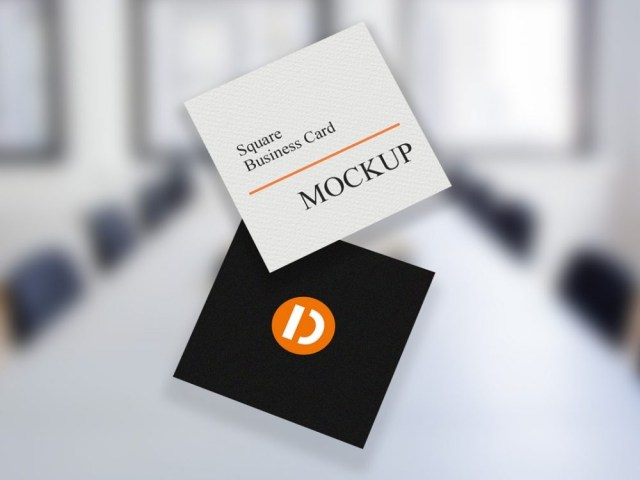 square business card mockup free daily mockup