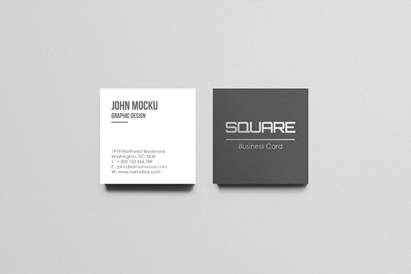 square business card mockups on wacom gallery