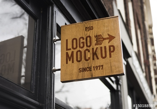 store brand sign mockup 6 buy this stock template and explore