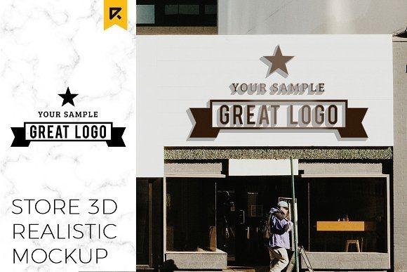 storefront sign logo mockup riopurba on creativemarket design