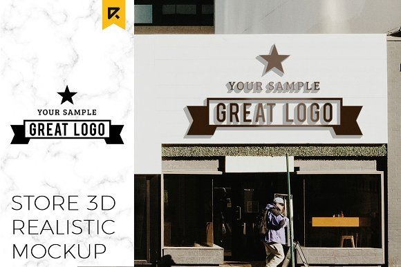 storefront sign logo mockup riopurba on creativemarket design