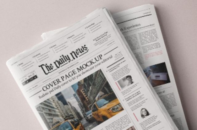 this is a psd newspaper mockup to showcase your editorial designs