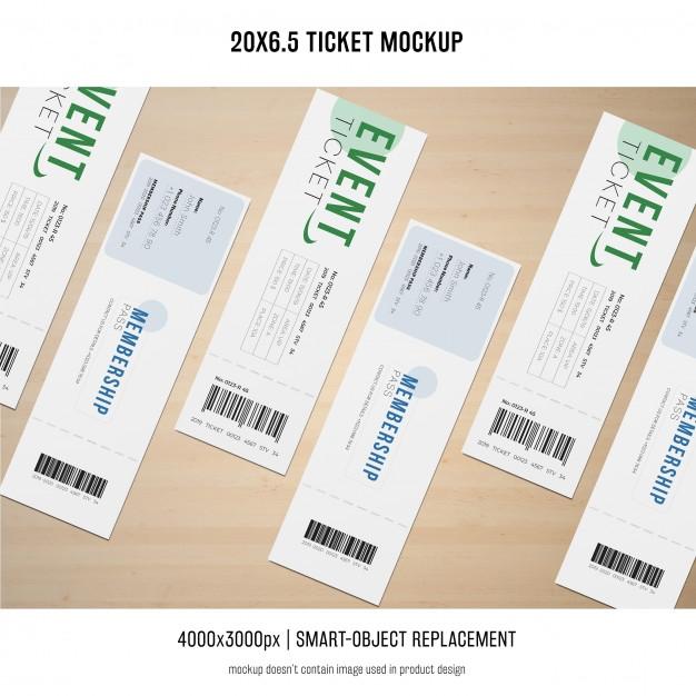 ticket mockup psd file free download