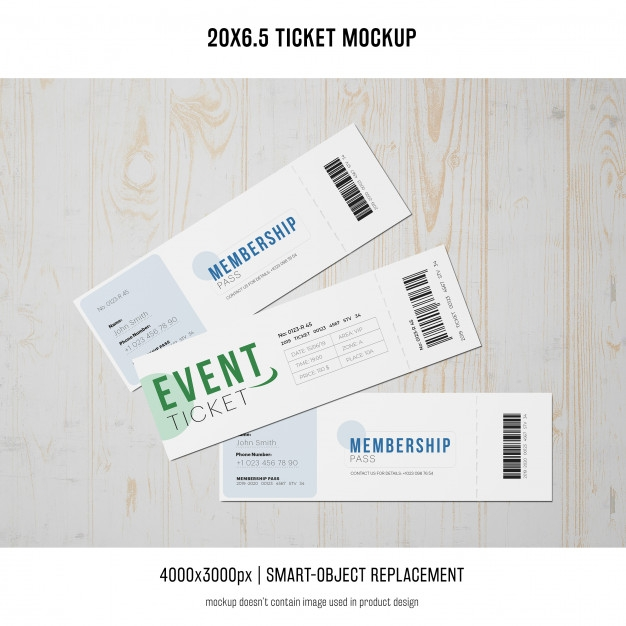 ticket mockup psd file free download