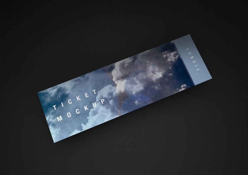 ticket mockup set mockupworld