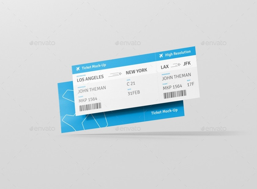 ticket mockup visconbiz graphicriver