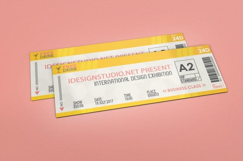 ticket mockup wwwidesignstudio