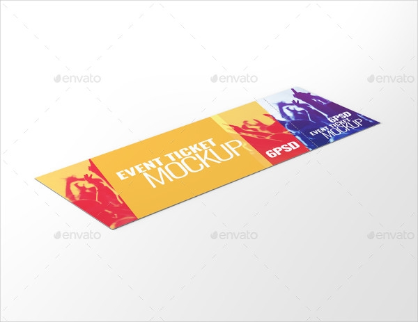 ticket mockups 8 free psd vector ai eps format download free