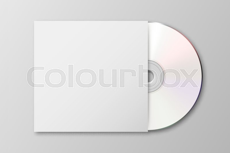 vector realistic 3d white cd with stock vector colourbox