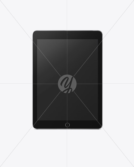 vertical ipad mockup front view in device mockups on yellow