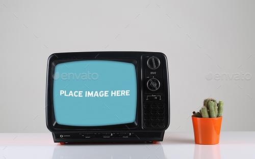 vintage tv mockups huseyinceliktas graphicriver
