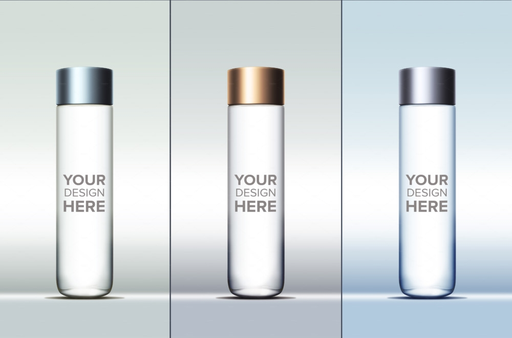 water bottle mockup template business