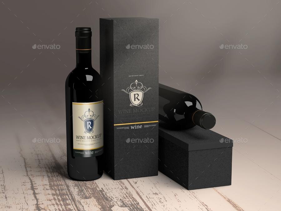 wine bottle mock up pmvch graphicriver