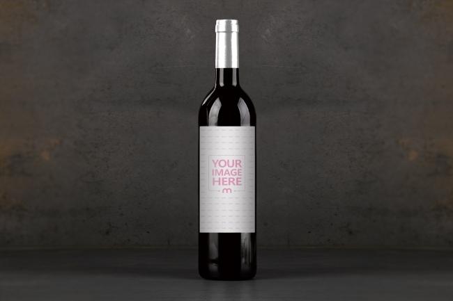 wine bottle on dark background mockup generator mediamodifier