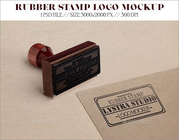 100 new customizable 3d rubber stamp mockups logo mockup
