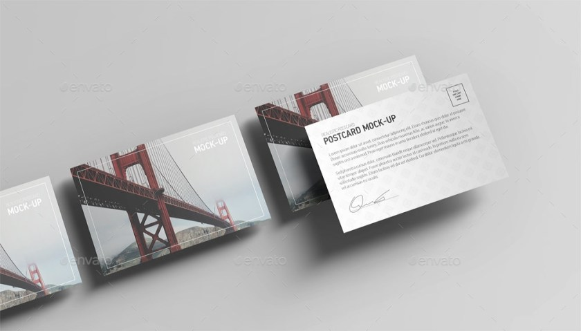 14premium free postcard mock ups in psd free psd templates