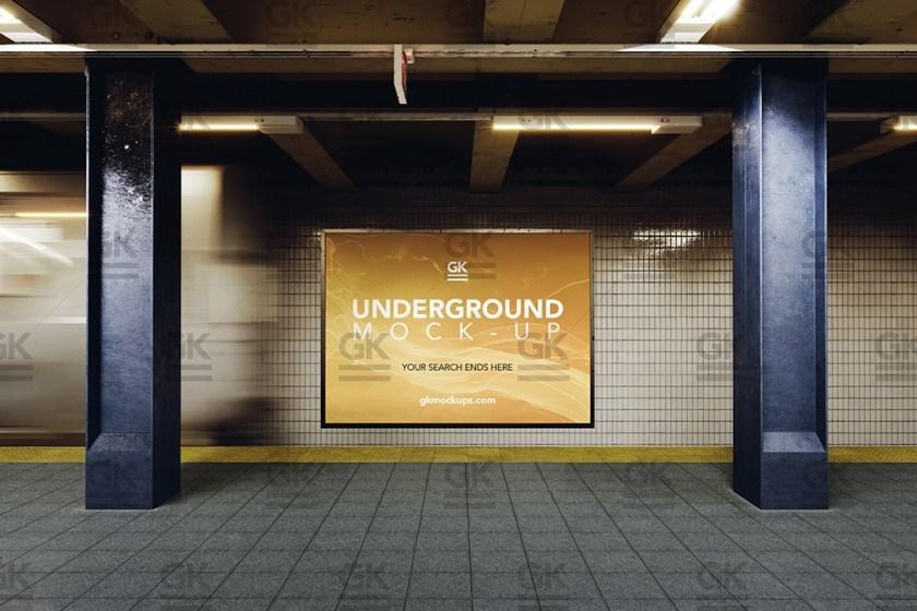 3d underground subway mock up gk mockups store