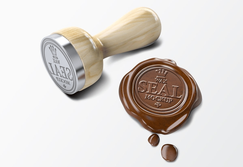 7 wax seal stamp psd mockup templates decolore