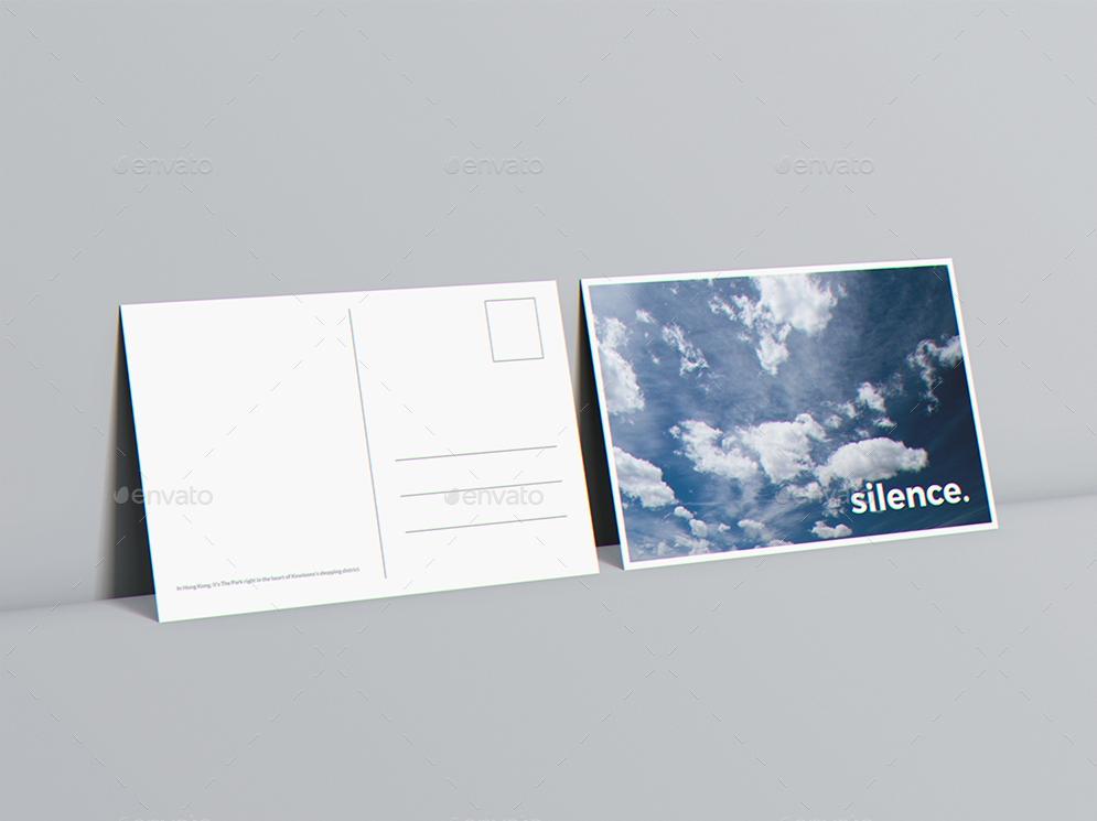 a6 flyer postcard invitation mockup