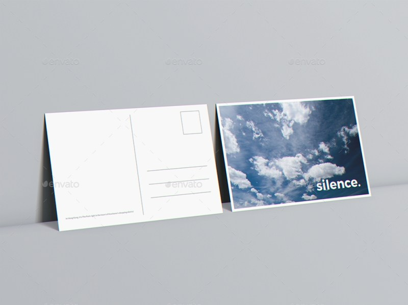 a6 flyer postcard invitation mockup